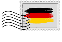 German flag stamp