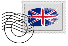 English flag stamp